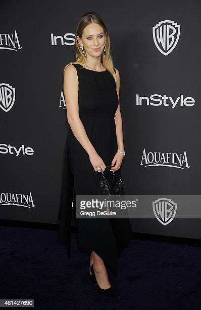 Actress Dylan Penn arrives at the 16th Annual Warner Bros And InStyle PostGolden Globe Party at The Beverly Hilton Hotel on January 11 2015 in...