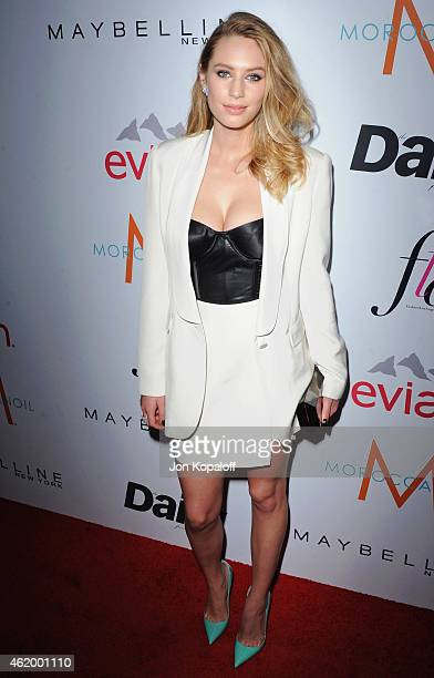 Actress Dylan Penn arrives at The Daily Front Row's 1st Annual Fashion Los Angeles Awards at Sunset Tower Hotel on January 22 2015 in West Hollywood...