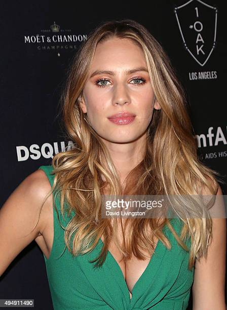 Actress Dylan Penn attends the amfAR's Inspiration Gala Los Angeles after party at 1OAK on October 29 2015 in West Hollywood California