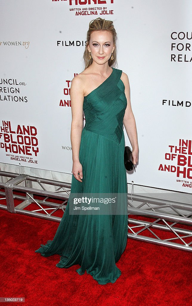 Actress Dzana Pinjo attends the premiere of 'In the Land of Blood and Honey' at the School of Visual Arts on December 5, 2011 in New York City.