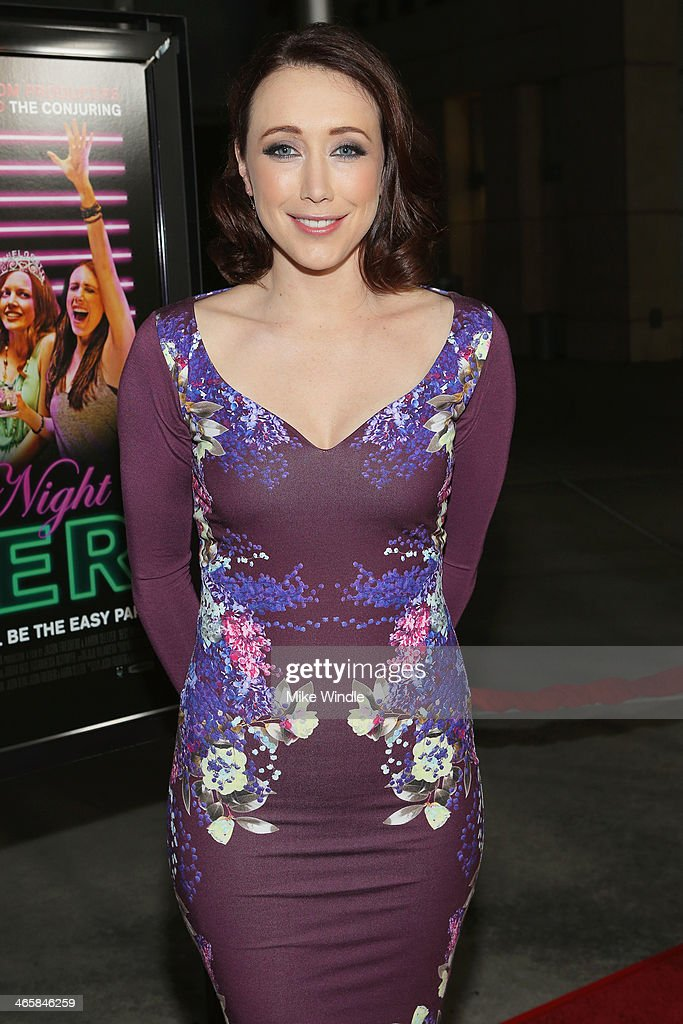 Actress Eddie Ritchard arrives at the premiere of Magnet's 'Best Night Ever' at ArcLight Cinemas on January 29, 2014 in Hollywood, California.