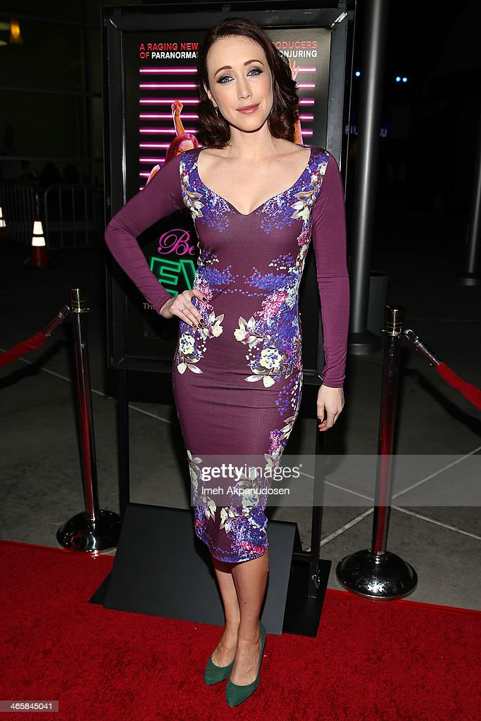 Actress Eddie Ritchard attends the premiere of Magnet's 'Best Night Ever' at ArcLight Cinemas on January 29, 2014 in Hollywood, California.