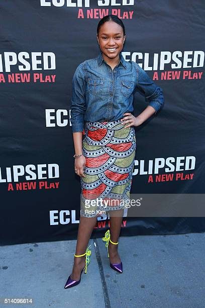 Actress Eden DuncanSmith attends the 'Eclipsed' broadway opening night at The Golden Theatre on March 6 2016 in New York City