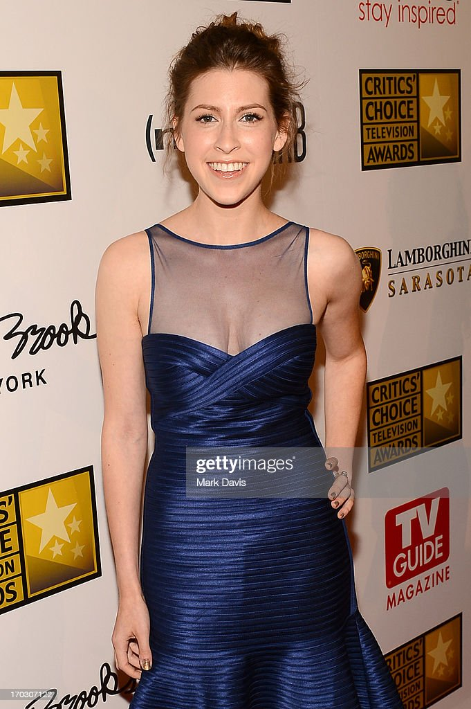 Actress Eden Sher arrives at Broadcast Television Journalists Association's third annual Critics' Choice Television Awards at The Beverly Hilton Hotel on June 10, 2013 in Los Angeles, California.