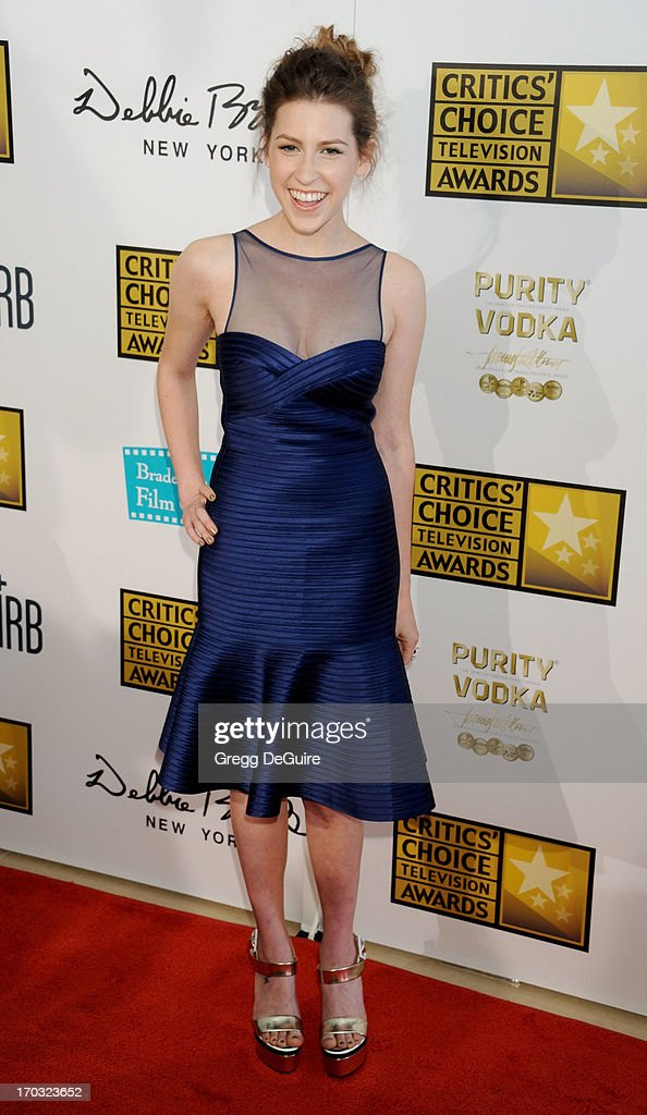 Actress Eden Sher arrives at the Broadcast Television Journalists Association 3rd Annual Critics' Choice Television Awards at The Beverly Hilton Hotel on June 10, 2013 in Beverly Hills, California.