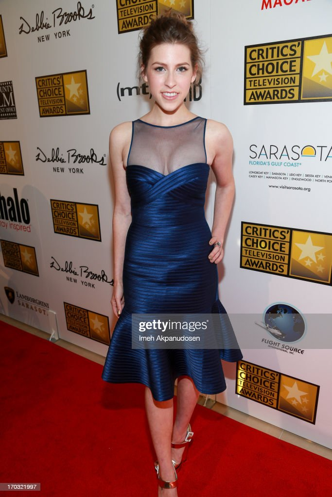 Actress Eden Sher attends the Critics' Choice Television Awards at The Beverly Hilton Hotel on June 10, 2013 in Beverly Hills, California.