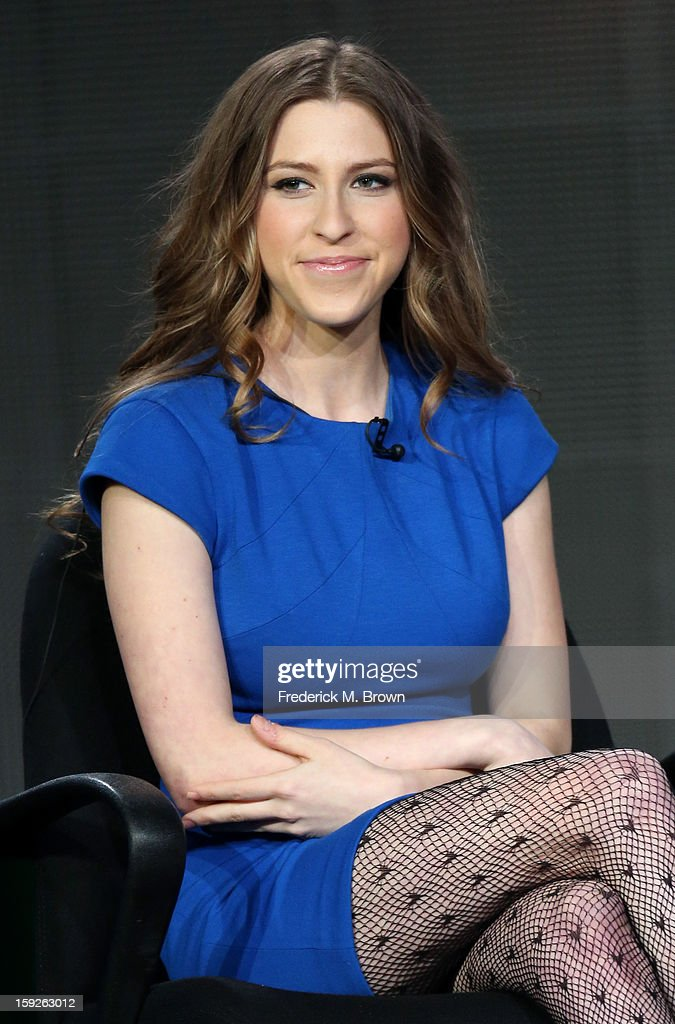 Actress Eden Sher of the 'the middle' speaks onstage during the ABC portion of the 2013 Winter TCA Tour at Langham Hotel on January 10, 2013 in Pasadena, California.