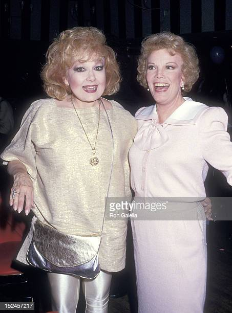 Actress Edie Adams and actress Nanette Fabray attend the 'Happy Birthday Mr Abbott' Broadway's Special 100th Birthday Tribute to George Abbott After...
