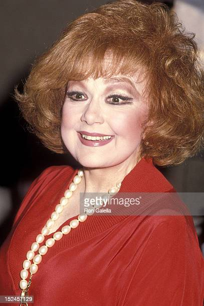 Actress Edie Adams attends the 23rd Annual Publicists Guild of America Awards on March 21 1986 at the Beverly Hilton Hotel in Beverly Hills California