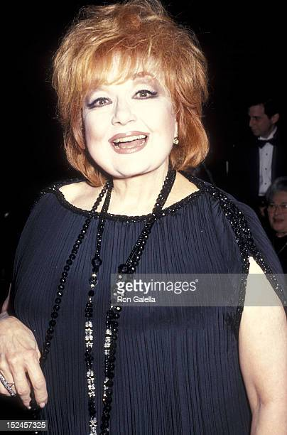 Actress Edie Adams attends the International Alliance of Theatrical Stage Employees' 100th Anniversary Celebration on July 21 1993 at the New York...