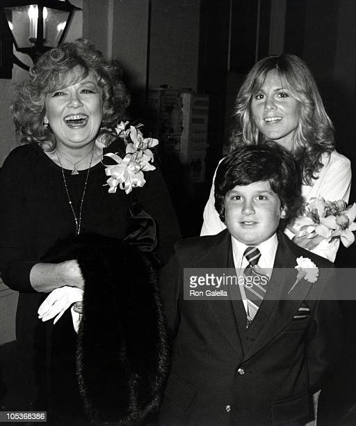 Actress Edie Adams daughter Mia Kovacs and son Josh Mills on April 6 1980 dine at Chasen's Restaurant in Beverly Hills California
