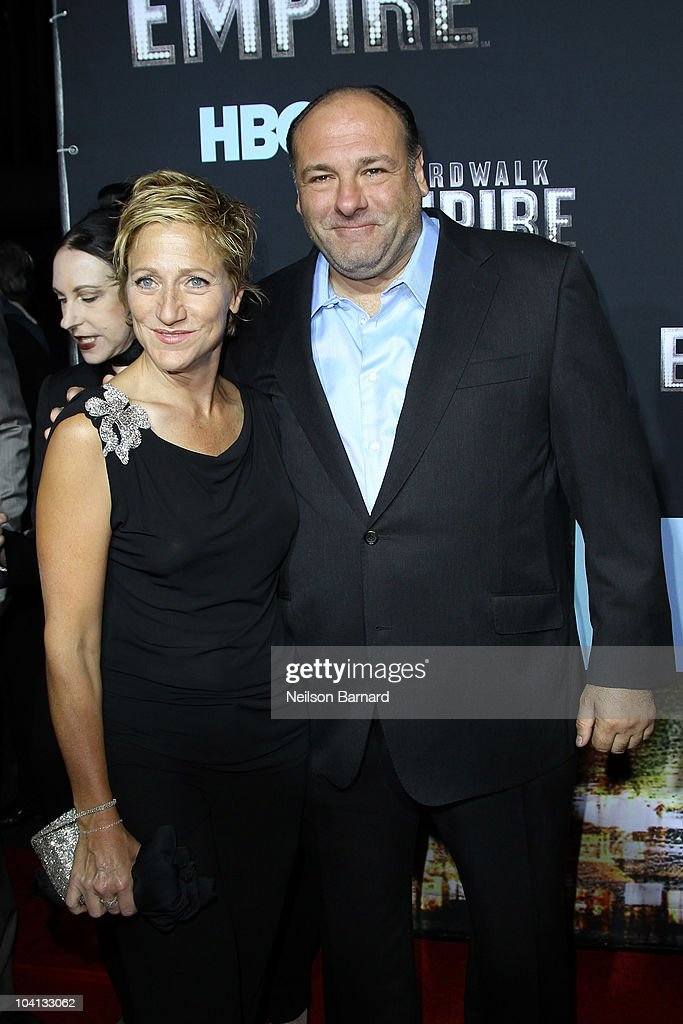 Actress <a gi-track='captionPersonalityLinkClicked' href=/galleries/search?phrase=Edie+Falco&family=editorial&specificpeople=202111 ng-click='$event.stopPropagation()'>Edie Falco</a> (L) and actor <a gi-track='captionPersonalityLinkClicked' href=/galleries/search?phrase=James+Gandolfini&family=editorial&specificpeople=171463 ng-click='$event.stopPropagation()'>James Gandolfini</a> attend the premiere of 'Boardwalk Empire' at the Ziegfeld Theatre on September 15, 2010 in New York City.