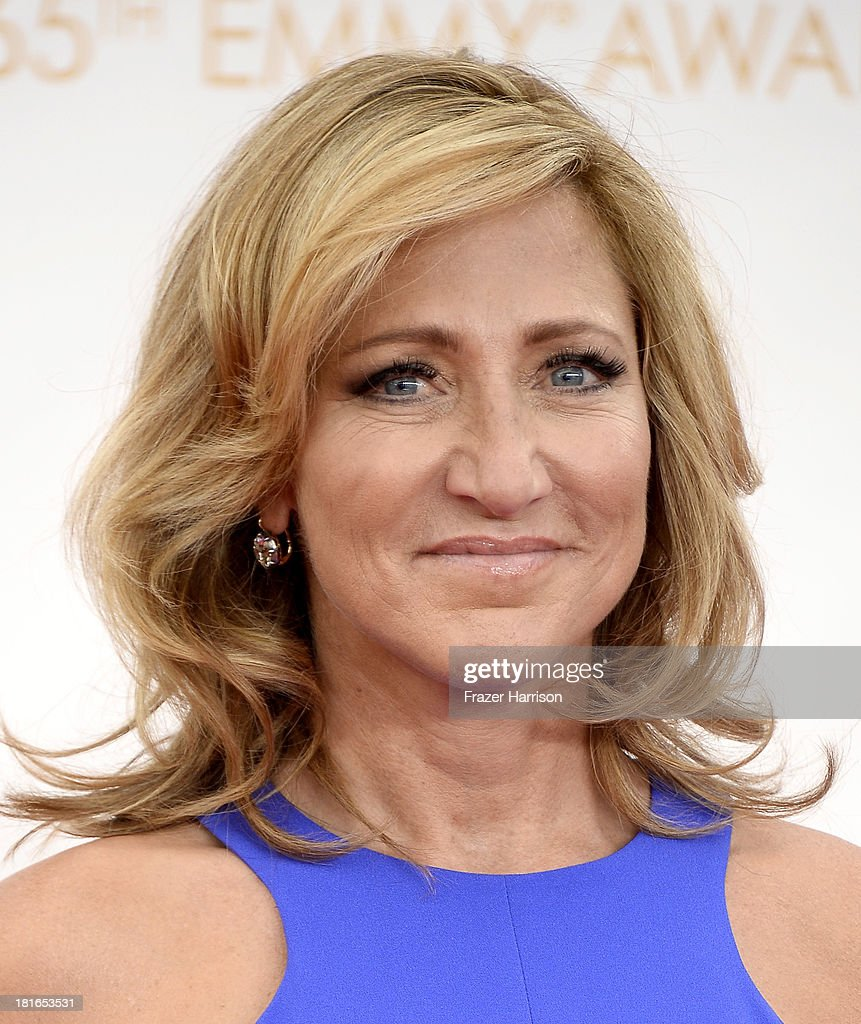 Actress <a gi-track='captionPersonalityLinkClicked' href=/galleries/search?phrase=Edie+Falco&family=editorial&specificpeople=202111 ng-click='$event.stopPropagation()'>Edie Falco</a> arrives at the 65th Annual Primetime Emmy Awards held at Nokia Theatre L.A. Live on September 22, 2013 in Los Angeles, California.