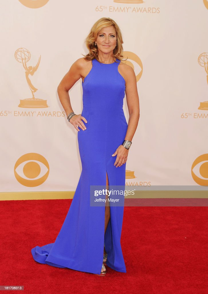 Actress Edie Falco arrives at the 65th Annual Primetime Emmy Awards at Nokia Theatre L.A. Live on September 22, 2013 in Los Angeles, California.
