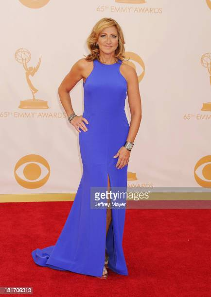 Actress Edie Falco arrives at the 65th Annual Primetime Emmy Awards at Nokia Theatre LA Live on September 22 2013 in Los Angeles California