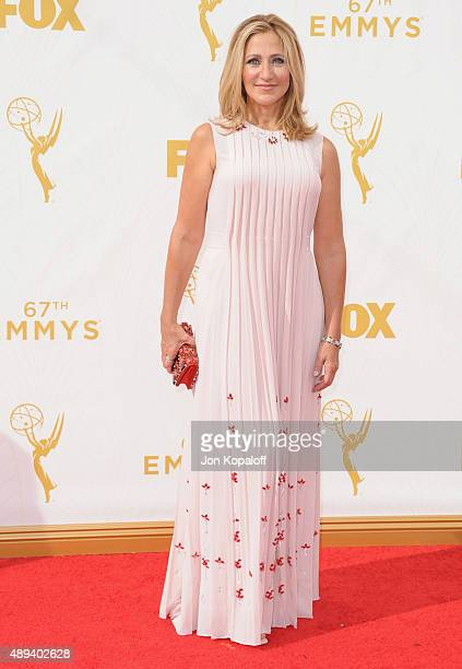 Actress Edie Falco arrives at the 67th Annual Primetime Emmy Awards at Microsoft Theater on September 20 2015 in Los Angeles California