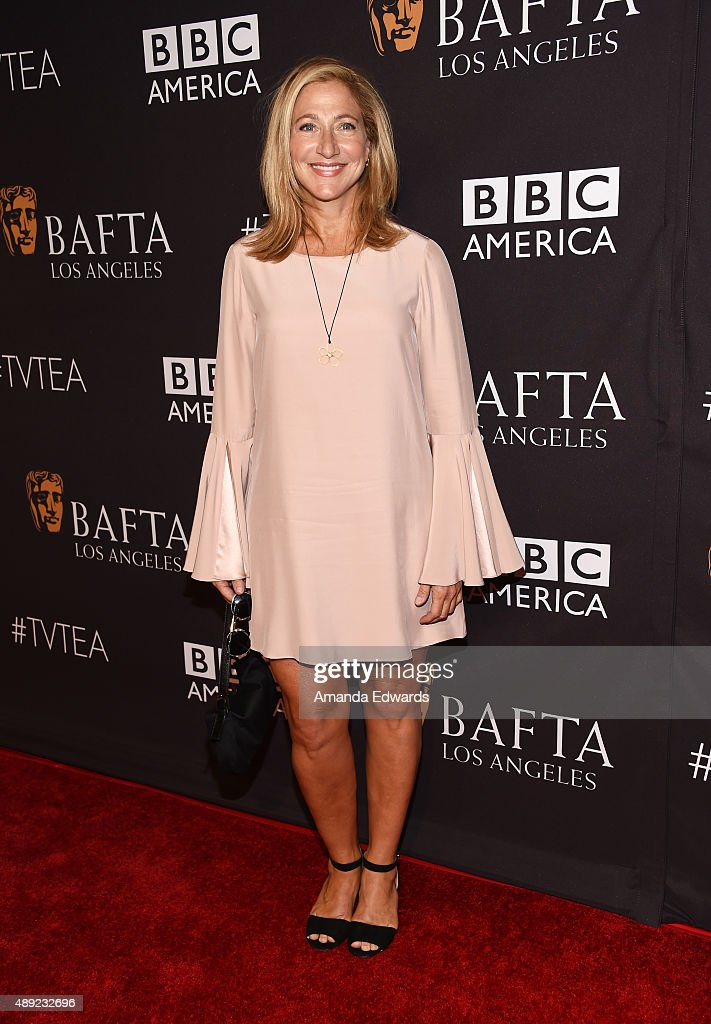 Actress <a gi-track='captionPersonalityLinkClicked' href=/galleries/search?phrase=Edie+Falco&family=editorial&specificpeople=202111 ng-click='$event.stopPropagation()'>Edie Falco</a> arrives at the BAFTA Los Angeles TV Tea 2015 at the SLS Hotel on September 19, 2015 in Beverly Hills, California.