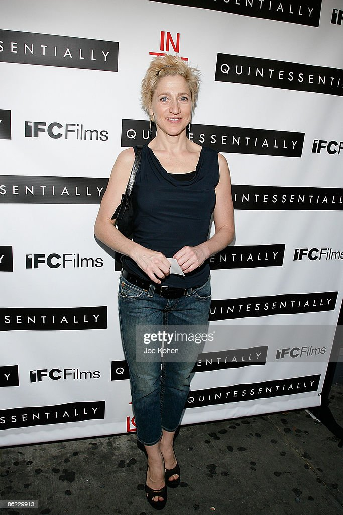 Actress Edie Falco attends a screening of 'In The Loop' at the IFC Center on April 26, 2009 in New York City.