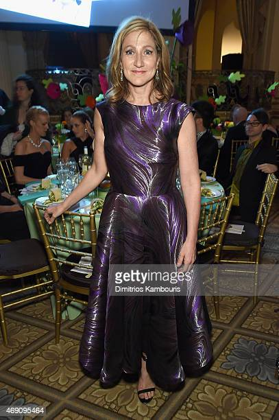 Actress Edie Falco attends ASPCA'S 18th Annual Bergh Ball honoring Edie Falco and Hilary Swank at The Plaza Hotel on April 9 2015 in New York City
