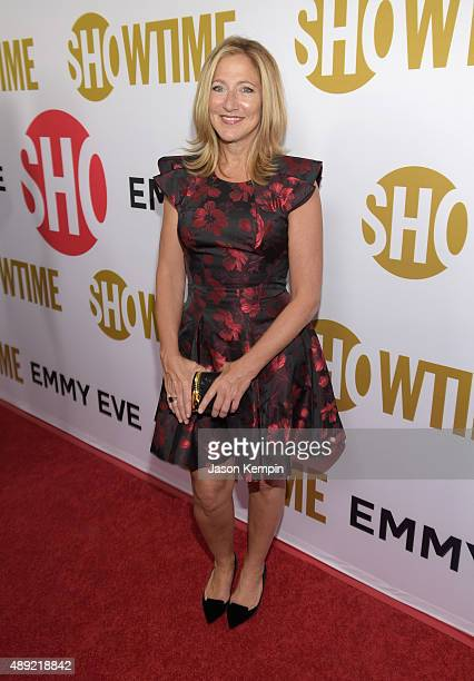 Actress Edie Falco attends Showtime's 2015 Emmy Eve Party at Sunset Tower Hotel on September 19 2015 in West Hollywood California