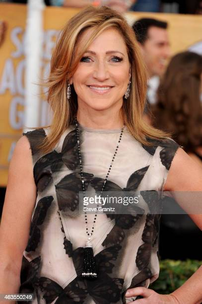 Actress Edie Falco attends the 20th Annual Screen Actors Guild Awards at The Shrine Auditorium on January 18 2014 in Los Angeles California