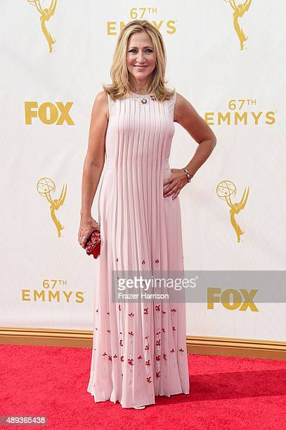 Actress Edie Falco attends the 67th Annual Primetime Emmy Awards at Microsoft Theater on September 20 2015 in Los Angeles California