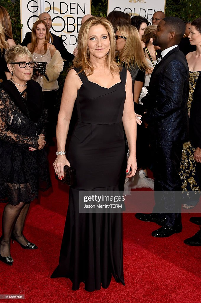 Actress <a gi-track='captionPersonalityLinkClicked' href=/galleries/search?phrase=Edie+Falco&family=editorial&specificpeople=202111 ng-click='$event.stopPropagation()'>Edie Falco</a> attends the 72nd Annual Golden Globe Awards at The Beverly Hilton Hotel on January 11, 2015 in Beverly Hills, California.
