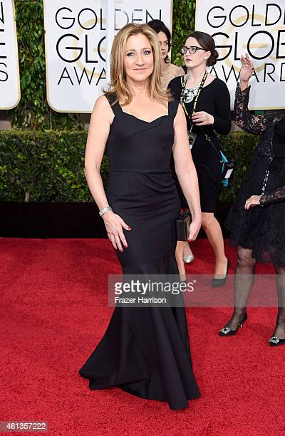 Actress Edie Falco attends the 72nd Annual Golden Globe Awards at The Beverly Hilton Hotel on January 11 2015 in Beverly Hills California
