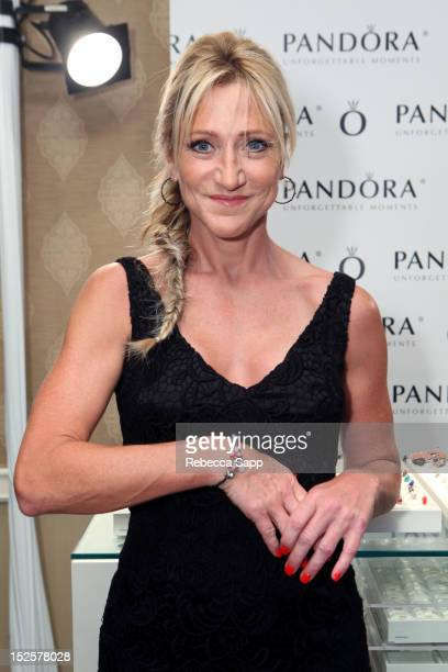 Actress Edie Falco attends the HBO Luxury Lounge in honor of the 64th Primetime Emmy Awards held at Four Seasons Hotel Los Angeles at Beverly Hills...