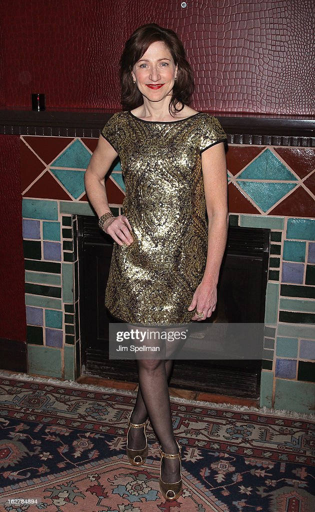 Actress Edie Falco attends 'The Madrid' Opening Night at Red Eye Grill on February 26, 2013 in New York City.