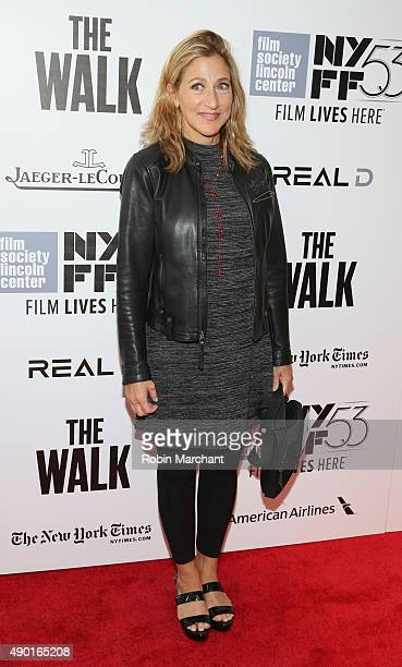 Actress Edie Falco attends the Opening Night Gala Presentation and 'The Walk' World Premiere during 53rd New York Film Festival at Alice Tully Hall...