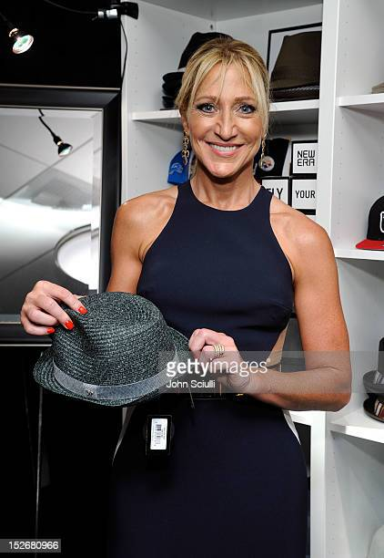 Actress Edie Falco attends the Presenters Gift Lounge Backstage in celebration of the 64th Primetime Emmy Awards produced by On 3 Productions at...