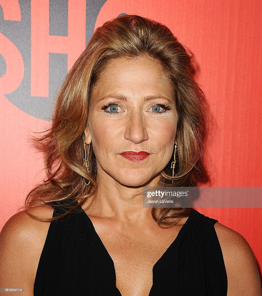 Actress <a gi-track='captionPersonalityLinkClicked' href=/galleries/search?phrase=Edie+Falco&family=editorial&specificpeople=202111 ng-click='$event.stopPropagation()'>Edie Falco</a> attends the Showtime Emmy eve soiree at Sunset Tower on September 21, 2013 in West Hollywood, California.