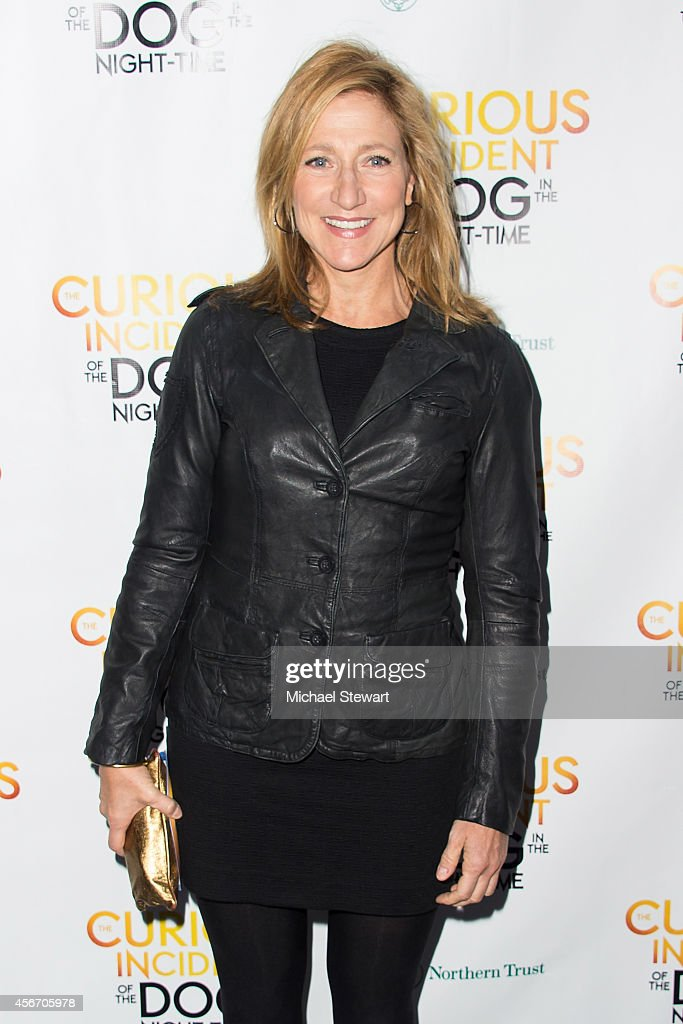 Actress Edie Falco attends the 'The Curious Incident Of The Dog In The Night-Time' Broadway Opening Night at The Ethel Barrymore Theatre on October 5, 2014 in New York City.