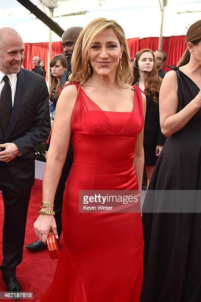 Actress Edie Falco attends TNT's 21st Annual Screen Actors Guild Awards at The Shrine Auditorium on January 25 2015 in Los Angeles California...