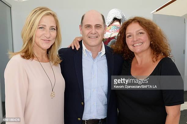 Actress Edie Falco writer/director Matthew Weiner and actress Aida Turturro attend the 2015 BAFTA Los Angeles TV Tea at SLS Hotel on September 19...