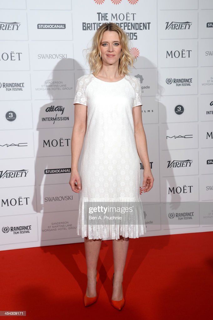 Actress Edith Bowman arrives on the red carpet for the Moet British Independent Film Awards at Old Billingsgate Market on December 8, 2013 in London, England.