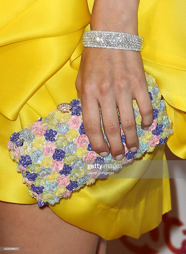 Actress Edurne 'Edy' Ganem (purse & bracelet detail) attends the 29th Annual Imagen Awards at the Beverly Hilton Hotel on August 1, 2014 in Beverly Hills, California.