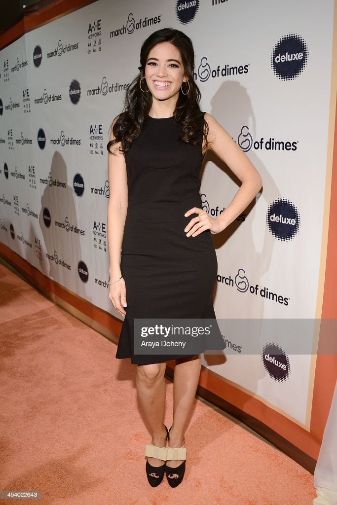Actress Edy Ganem<attends the March of Dimes Celebration of Babies Luncheon> at Beverly Hills Hotel on December 6, 2013 in Beverly Hills, California.