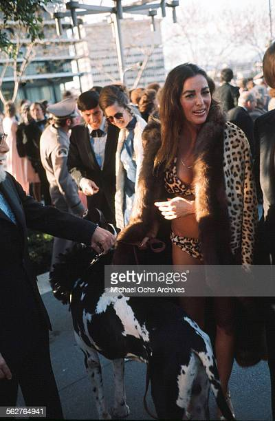 Actress Edy Williams arrives to the 46th Academy Awards at Dorothy Chandler Pavilion in Los AngelesCalifornia