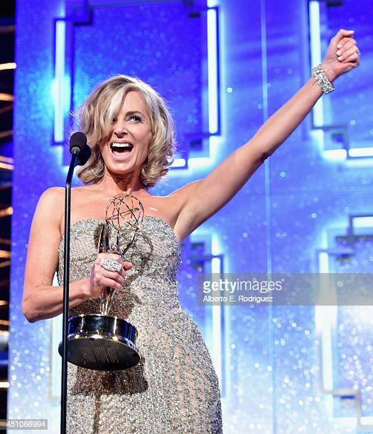 Actress Eileen Davidson accepts Outstanding Lead Actress in a Drama Series 'Days of Our Lives' onstage during The 41st Annual Daytime Emmy Awards at...