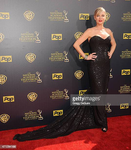 Actress Eileen Davidson arrives at the 42nd Annual Daytime Emmy Awards at Warner Bros Studios on April 26 2015 in Burbank California