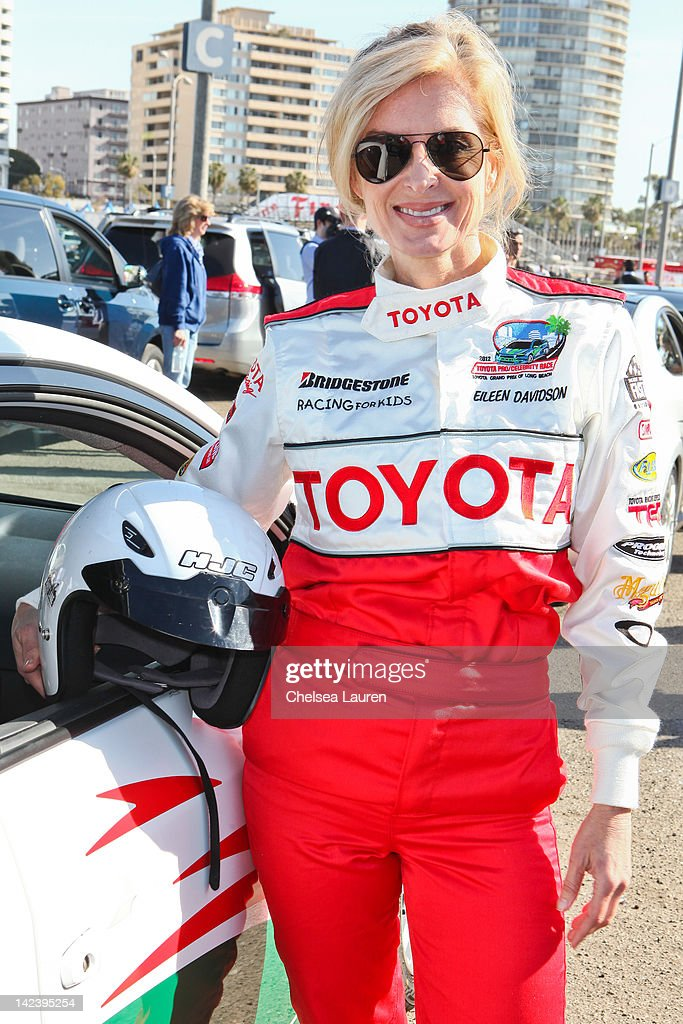 Actress <a gi-track='captionPersonalityLinkClicked' href=/galleries/search?phrase=Eileen+Davidson&family=editorial&specificpeople=663986 ng-click='$event.stopPropagation()'>Eileen Davidson</a> attends the 36th annual Toyota pro/celebrity race press day on April 3, 2012 in Long Beach, California.