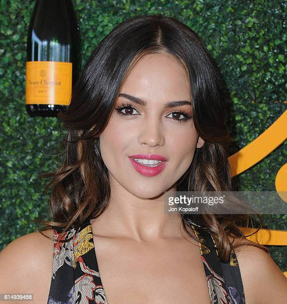 Actress Eiza Gonzalez arrives at the 7th Annual Veuve Clicquot Polo Classic at Will Rogers State Historic Park on October 15 2016 in Pacific...