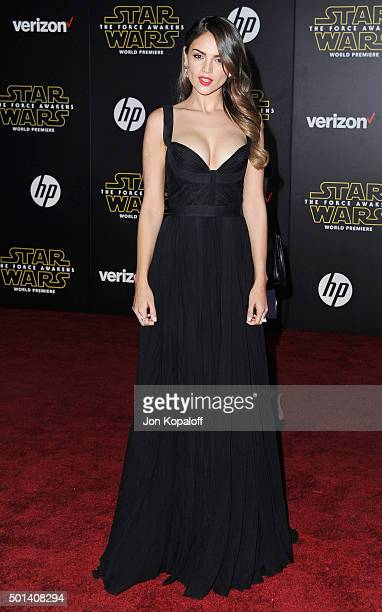 Actress Eiza Gonzalez arrives at the Los Angeles Premiere 'Star Wars The Force Awakens' on December 14 2015 in Hollywood California