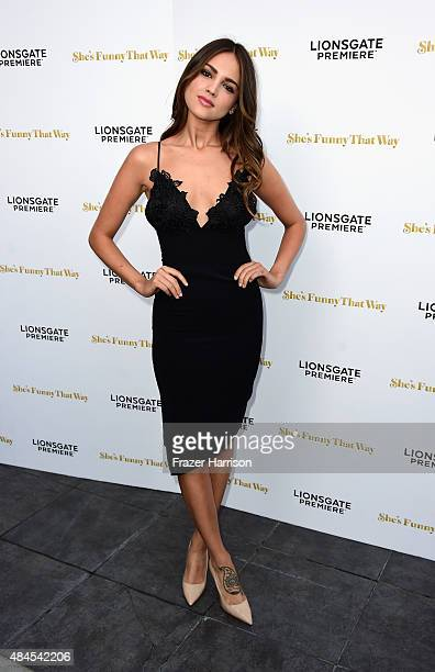 Actress Eiza Gonzalez arrives at the Premiere Of Lionsgate Premiere's 'She's Funny That Way' at Harmony Gold on August 19 2015 in Los Angeles...