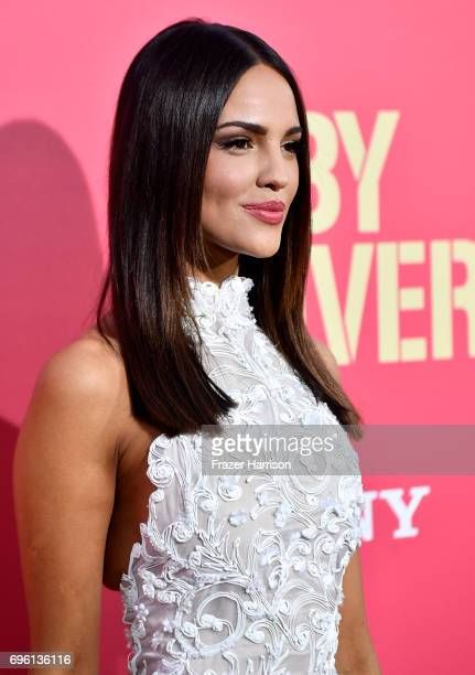 Actress Eiza Gonzalez arrives at the Premiere of Sony Pictures' 'Baby Driver' at Ace Hotel on June 14 2017 in Los Angeles California