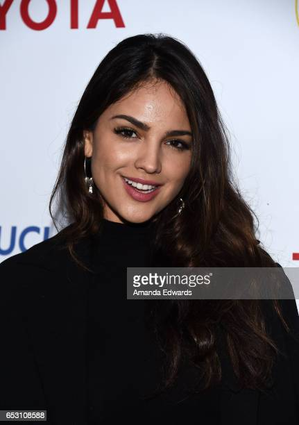 Actress Eiza Gonzalez arrives at the UCLA Institute of the Environment and Sustainability Innovators for a Healthy Planet celebration on March 13...