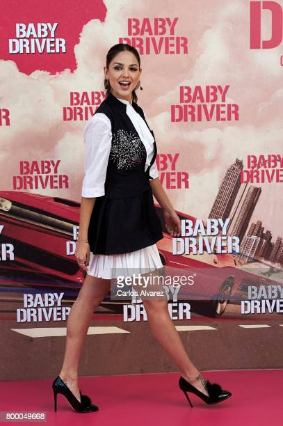 Actress Eiza Gonzalez attends 'Baby Driver' photocall at the Villamagna Hotel on June 23 2017 in Madrid Spain