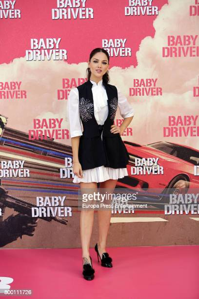 Actress Eiza Gonzalez attends 'Baby Driver' photocall at Villa Magna hotel on June 23 2017 in Madrid Spain